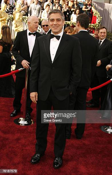 George Clooney nominee Best Director and Best Original Screenplay for Good Night and Good Luck and nominee Best Actor in a Supporting Role for Syriana