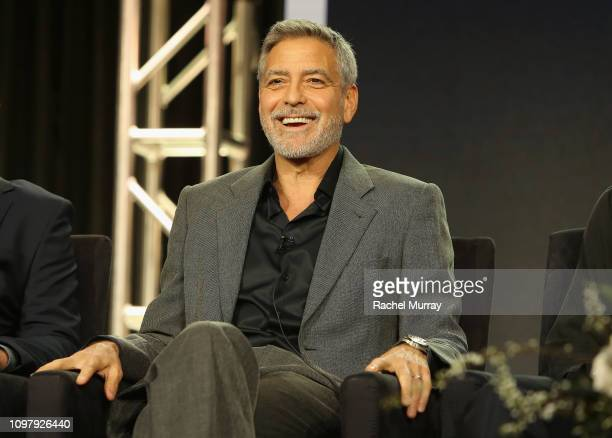 George Clooney of 'Catch 22' speaks onstage during the Hulu Panel during the Winter TCA 2019 on February 11 2019 in Pasadena California