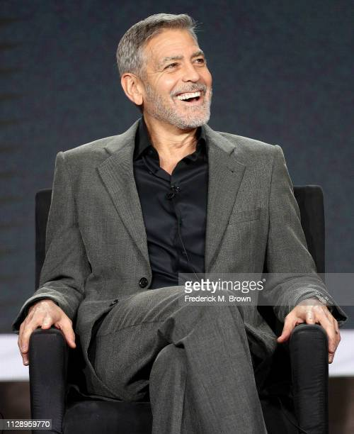 "George Clooney of the television show ""Catch 22"" speaks during the Hulu segment of the 2019 Winter Television Critics Association Press Tour at The..."