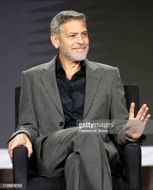 George Clooney of the television show 'Catch 22' speaks during the Hulu segment of the 2019 Winter Television Critics Association Press Tour at The...