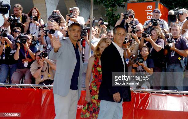 George Clooney Patricia Clarckson and David Strathairn