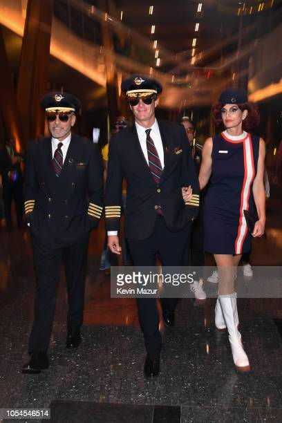 George Clooney, Rande Gerber, and Cindy Crawford attend Casamigos Halloween party at CATCH Las Vegas at ARIA Resort & Casino on October 27, 2018 in...