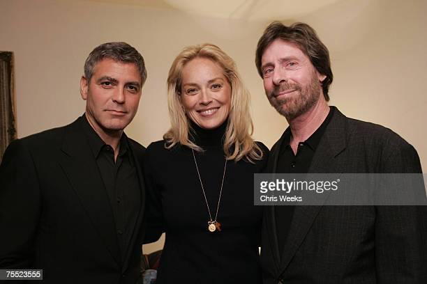 George Clooney Sharon Stone and Arnie Kassoy at the Arlington Theater in Santa Barbara CA