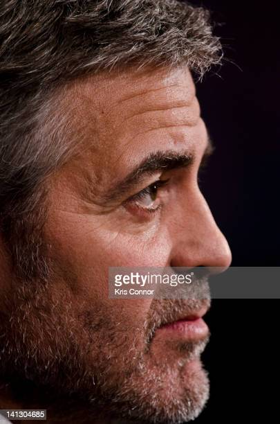 George Clooney testifies at the Senate Foreign Relations Sudan and South Sudan Independence and Insecurity hearing at the Dirksen Senate Office...