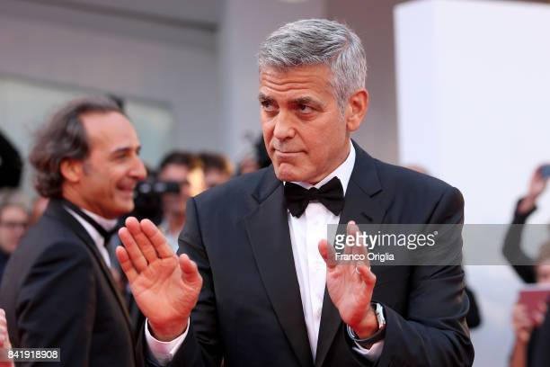 George Clooney walks the red carpet ahead of the 'Suburbicon' screening during the 74th Venice Film Festival at Sala Grande on September 2 2017 in...