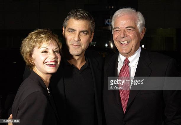 George Clooney with his mother and father Nick Clooney