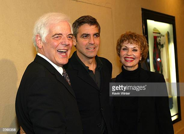 George Clooney with his parents Nick and Nina Clooney at the premiere of Confessions of a Dangerous Mind at the Bruin Theatre and afterparty at the W...
