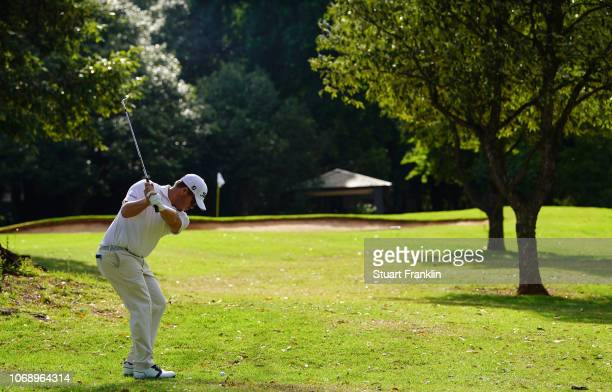 George Coetzee of South Africa plays a shot during the first round of the South African Open at Randpark Golf Club on December 6 2018 in Johannesburg...