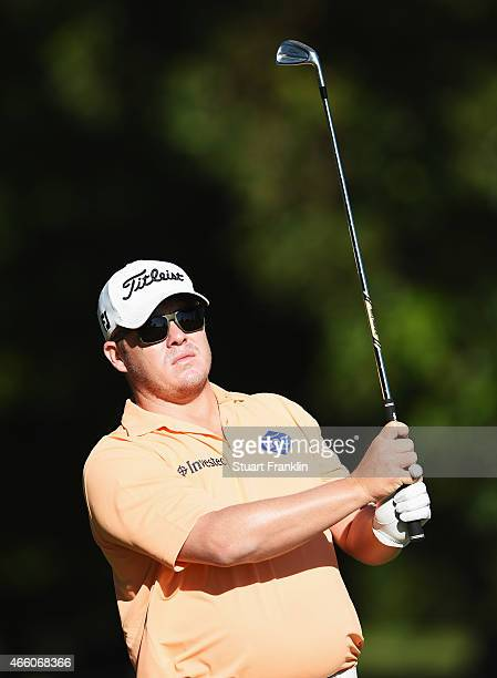 George Coetzee of South Africa plays a shot during the second round of the Tshwane Open at Pretoria Country Club on March 13 2015 in Pretoria South...