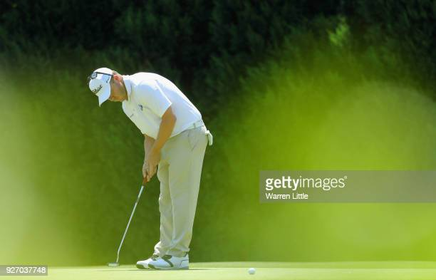 George Coetzee of South Africa putts on the second green during the final round of the Tshwane Open at Pretoria Country Club on March 4 2018 in...