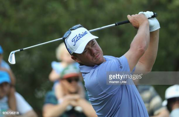 George Coetzee of South Africa tees off on the 15th hole during the third round of the Tshwane Open at Pretoria Country Club on March 3 2018 in...