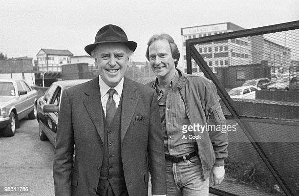 George Cole pictured as Arthur Daley with Dennis Waterman as Terry McCann in a scene from the ITV drama Minder 26th May 1988