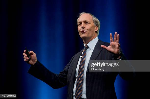 George Colony, chief executive officer of Forrester Research Inc., speaks during the DreamForce Conference in San Francisco, California, U.S., on...