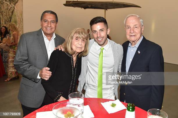George Cooper Marilyn Siegel Adam Cassel and Harold Siegel attend Parrish Art Museum Midsummer Party 2018 at Parrish Art Museum on July 14 2018 in...