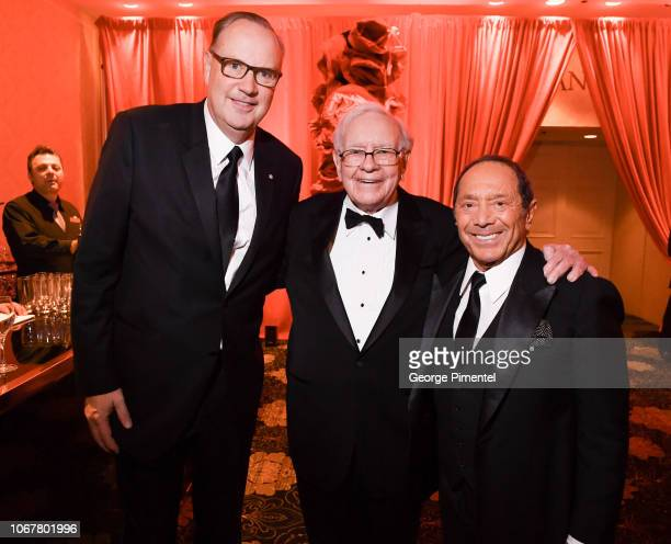 George Cope Warren Buffett and Paul Anka attends 2018 Canada's Walk Of Fame Awards held at Sony Centre for the Performing Arts on December 1 2018 in...