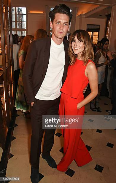 George Craig and Megan Ellaby attend the launch of new book 'Terry George Feeding Friends' by Terry Edwards and George Craig at Thomas's in Burberry...