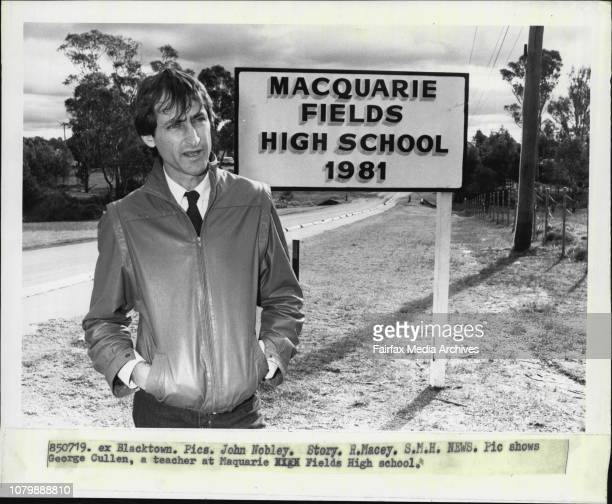George Cullen a teacher at Maquarie Fields High schoolAn Education Department scheme which would have seen up to 40 per cent of senior teaching...