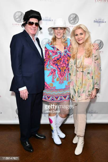 George David Wendy David and Nina Junot attend Lapham's Quarterly Decades Ball 2019 at 583 Park Avenue on March 25 2019 in New York City