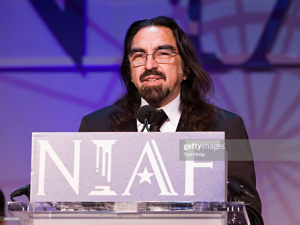George DiCaprio accepts the NIAF Special Achievement Award in Entertainment for his son Leonardo Dicaprio, who did not attend the Gala due to illness, at the National Italian American Foundation (NIAF) 33rd Anniversary Awards at the Hilton Washington and Towers on October 18, 2008 in Washington, DC.