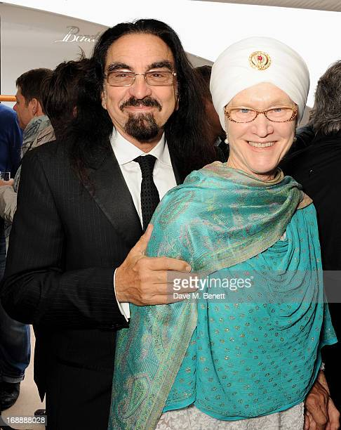 George DiCaprio and wife Peggy DiCaprio attend the Martin Scorsese Film Announcement 'Silence' hosted by John Walker Sons Voyager Yacht on May 16...