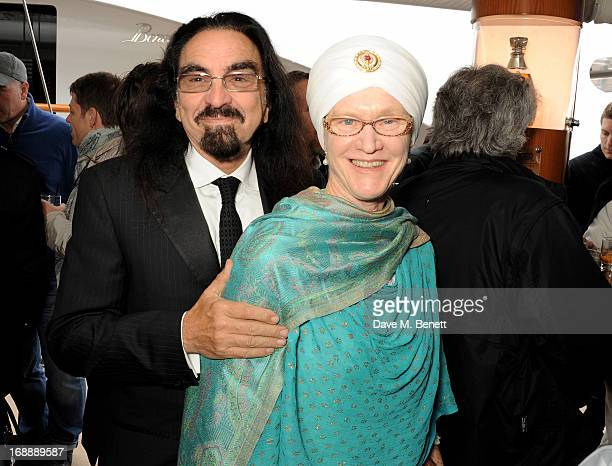 George DiCaprio and wife Peggy DiCaprio attend the Martin Scorsese Film Announcement 'Silence' hosted by Johnnie Walker Blue Label on May 16 2013 in...