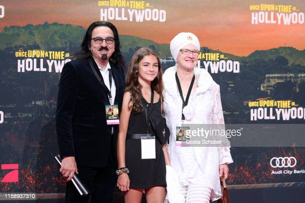 George DiCaprio with his wife Peggy Ann DiCaprio and Normandie DiCaprio during the premiere of Once Upon A Time In Hollywood at CineStar on August 1...