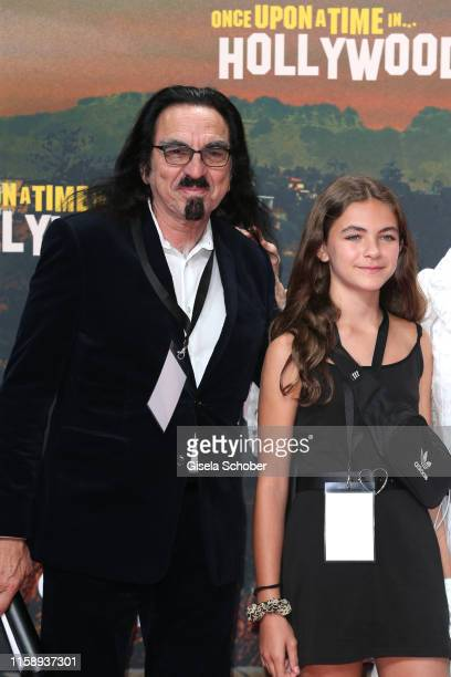 George DiCaprio with Normandie DiCaprio during the premiere of Once Upon A Time In Hollywood at CineStar on August 1 2019 in Berlin Germany