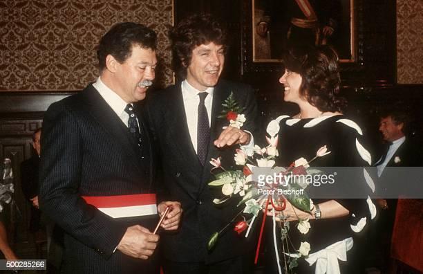 """""""George Dick , Michael Schanze, Monika Schanze, Hochzeit am in Monte Carlo, Monaco. """""""