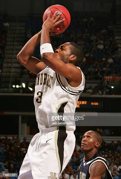 George Drake of the Vanderbilt Commodores puts up a shot during the round one game of the NCAA Men's Basketball Tournament against the George...