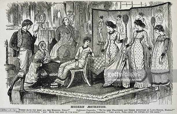 George du Maurier cartoon on the fashionable Aesthetic Movement in the decorative arts From ''Punch'' London 1878