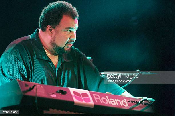 George Duke, keyboard, performs on July 9th 1999 at the North Sea Jazz Festival in the Hague, Netherlands.
