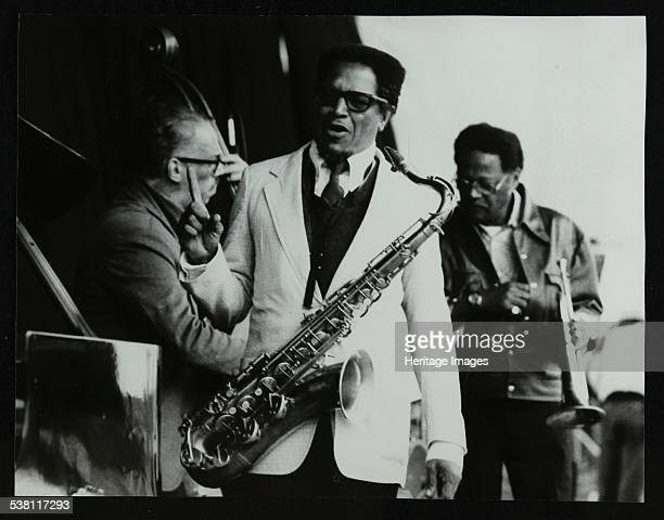 George Duvivier Illinois Jacquet and Clark Terry on stage at the Newport Jazz Festival Middlesbrough 1978 Artist Denis Williams
