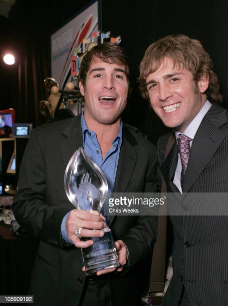 George Eads and Eric Szmanda during The Silver Spoon Gift Lounge at The 32nd Annual People's Choice Awards at The Shrine Auditorium in Los Angeles CA...