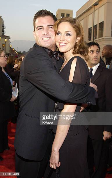 George Eads and Jorja Fox during The 29th Annual People's Choice Awards Arrivals at Pasadena Civic Auditorium in Pasadena California United States