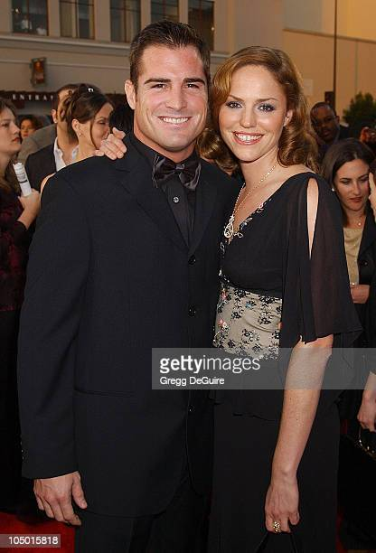 George Eads and Jorja Fox during The 29th Annual People's Choice Awards Arrivals by Gregg DeGuire at Pasadena Civic Auditorium in Pasadena California...