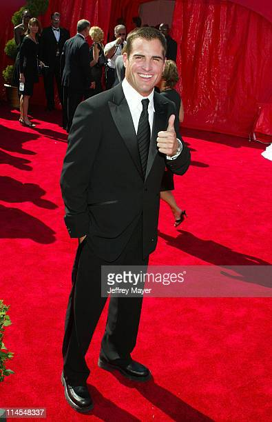 George Eads during The 55th Annual Primetime Emmy Awards Arrivals at The Shrine Theater in Los Angeles California United States