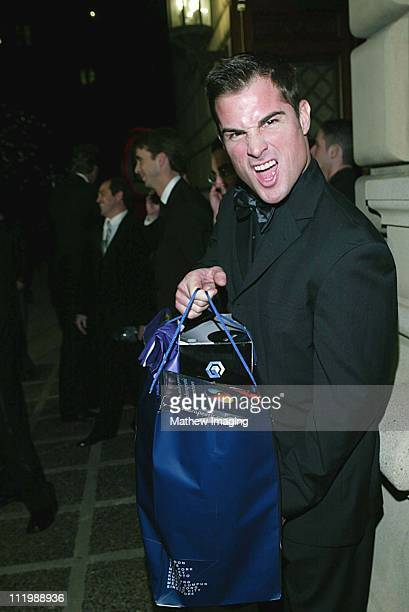 George Eads with his gift bag during The 29th Annual People's Choice Awards at Pasadena Civic Auditorium in Pasadena CA United States