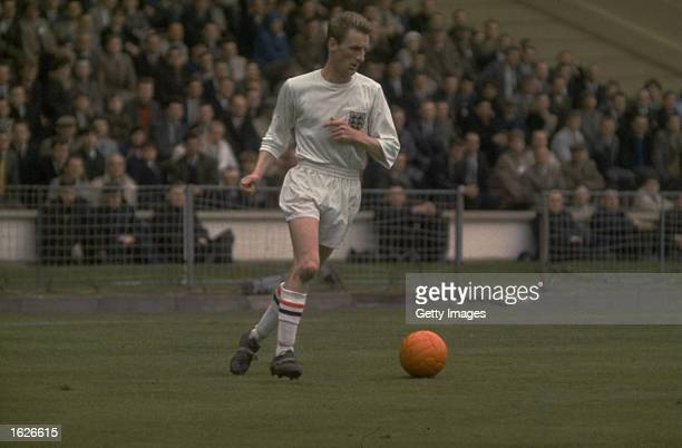 George Eastham of England in action during an International game Mandatory Credit Allsport UK /Allsport