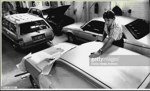 George Elmassian Manager of JS Craig panel beating checks a car in far hail damage repairThe total cost of repairing vehicles damaged in last year's...