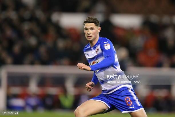 George Evans of Reading during the Sky Bet Championship match between Nottingham Forest and Reading at City Ground on February 20 2018 in Nottingham...