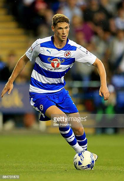 George Evans of Reading in action during the pre season friendly match between Reading and AFC Bournemouth at Madejski Stadium on July 29 2016 in...