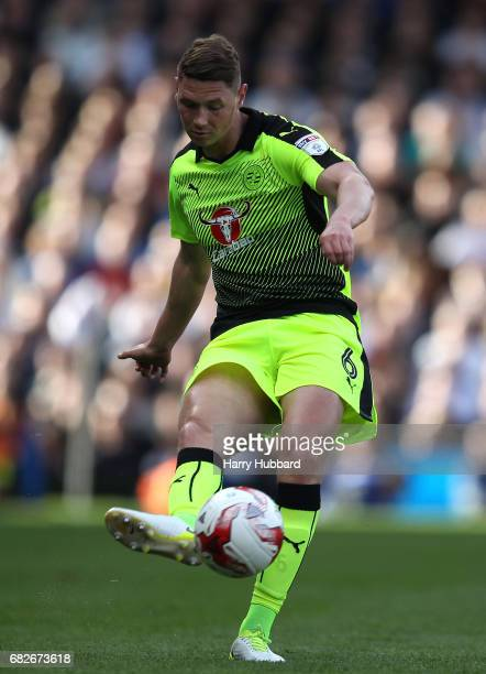 George Evans of Reading in action during the Sky Bet Championship Play off semi final 1st leg match between Fulham and Reading at Craven Cottage on...