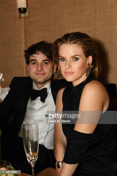George Eve and Alice Eve pose the Netflix BAFTA after party at Chiltern Firehouse on February 2 2020 in London England