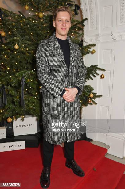 George Ezra attends a party hosted by NETAPORTER and MR PORTER to celebrate the festive season in style at One Horse Guards on November 30 2017 in...