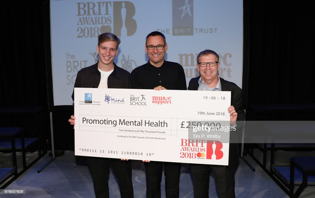 BRIT Awards Cheque presentation