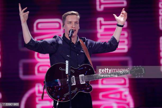 George Ezra during the Goldene Kamera show at Tempelhof Airport on March 30 2019 in Berlin Germany