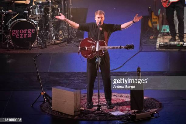 George Ezra performs at First Direct Arena on March 08, 2019 in Leeds, England.