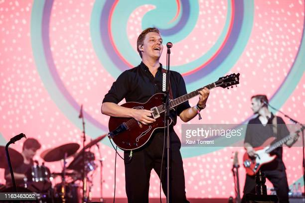 George Ezra performs in concert during the Festival Internacional de Benicassim on July 21, 2019 in Benicassim, Spain.