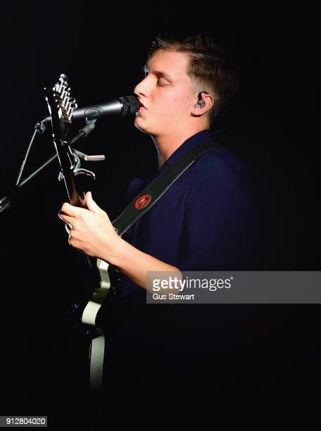 George Ezra performs live on stage at Shoreditch Town Hall on January 31 2018 in London England