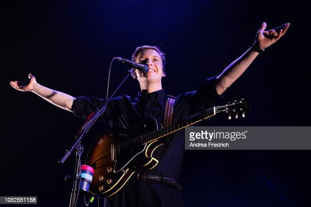 George Ezra performs live on stage during a concert at Verti Music Hall Berlin on October 19 2018 in Berlin Germany